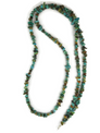Long Turquoise Nugget Necklace 38""