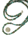 """Long Turquoise Nugget Necklace 37 1/2"""""""