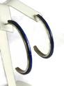 Lapis Inlay Hoop Earrings