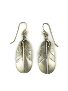 Sterling Silver Feather Earrings by Lena Platero (ER3711)
