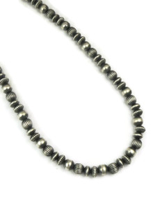 Mixed Silver Bead Necklace 18""