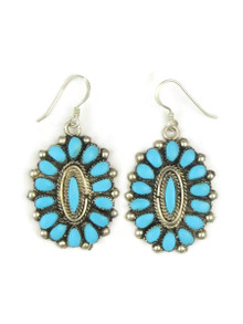 Turquoise Petit Point Cluster Earrings by Zuni, Rosenda Quetawki