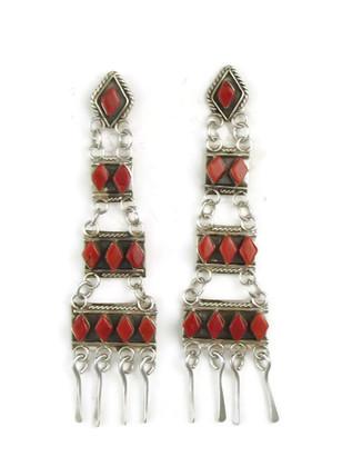Mediterranean Coral Dangle Earrings by Priscilla Chavez (ER3726)