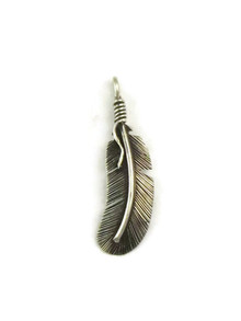 Sterling Silver Feather Pendant by Angela Martin (PD4867)