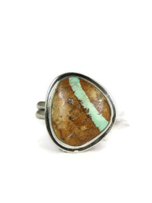 Royston Boulder Turquoise Ring Size 9 by Lena Platero