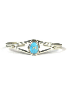 Kingman Turquoise Bracelet by Arlie Nelson
