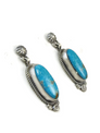 Kingman-Turquoise-Earrings by Shirley Henry (ER3631)