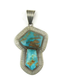 Pilot Mountain Turquoise Pendant by by Albert Jake