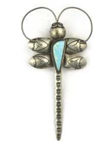 Number 8 Turquoise Dragonfly Pendant by Joe Eby