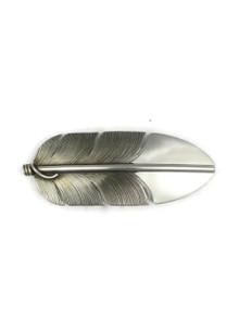 Silver Feather Hair Barrette by Lena Platero