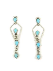 Sleeping Beauty Turquoise Dangle Earrings (ER3335)