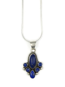Sterling Silver Lapis Pendant by Kim Yazzie