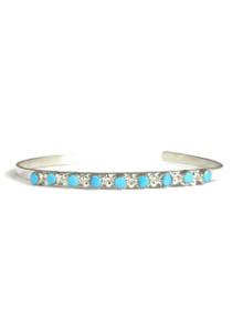 Small Turquoise Row Bracelet by Zuni, Mary Leekity