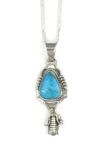Royston Turquoise Corn Pendant by Bennie Ration