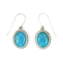 Kingman Turquoise Earrings by Jake Samson (ER3671)