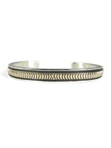14k Gold & Sterling Silver Bracelet by Bruce Morgan (BR5661)