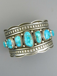 Kingman Turquoise Row Bracelet by Andy Cadman