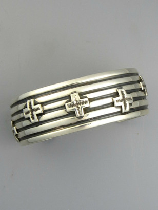 Silver Cross Bracelet by Andy Cadman (BR5665)