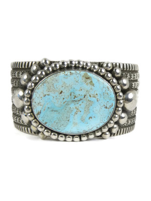 Dry Creek Turquoise Cuff  Bracelet by Guy Hoskie - Small Size