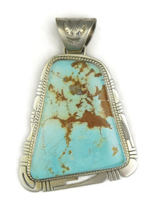 Large Royston Turquoise Pendant by Phillip Sanchez