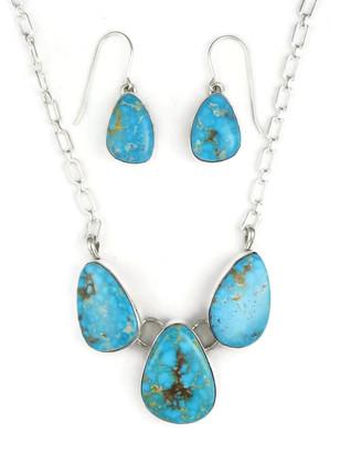 Kingman Turquoise Necklace Set by Lyle Piaso (NK3368)