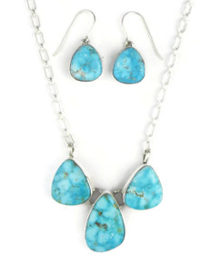Kingman Turquoise Necklace Set by Lyle Piaso (NK3369)