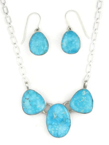 Kingman Turquoise Necklace Set by Lyle Piaso (NK3370)