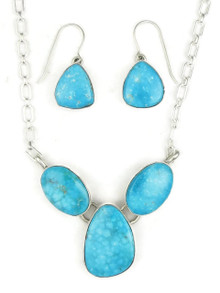 Kingman Turquoise Necklace Set by Lyle Piaso (NK3371)