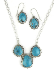 Sierra Nevada Turquoise Necklace Set by Lyle Piaso (NK3374)