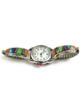 Multi Gemstone Inlay Watch
