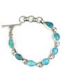 Kingman Turquoise Link Bracelet by Lyle Piaso