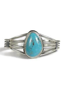 Kingman Turquoise Bracelet by Kim Yazzie (BR5676)