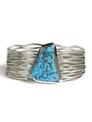 Kingman Turquoise Silver Branch Wire Bracelet by Murphy Platero