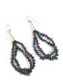 10 Strand Lapis Beaded Treasure Necklace Set by Ronald Chavez