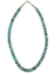 Turquoise 8mm Bead Necklace 18""