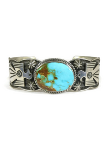 Royston Turquoise Thunderbird Bracelet by Andy Cadman