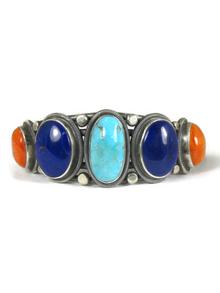 Kingman Turquoise, Lapis & Spiny Oyster Shell Bracelet by Gloria Begay