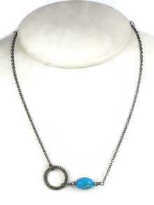 Dainty Turquoise Circle of Life Necklace