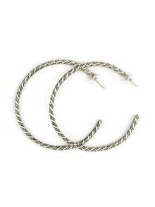 Sterling Silver Hoop Earrings by Elaine Tahe