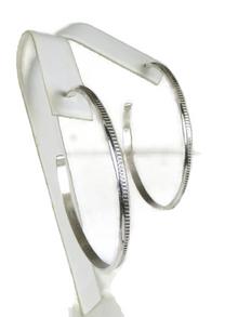 Hand Stamped Silver Hoop Earrings by Elaine Tahe