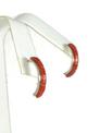 Mediterranean Coral Inlay Hoop Earrings by Susanna Kallestewa