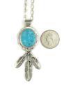 Kingman Turquoise Feather Pendant by John Nelson