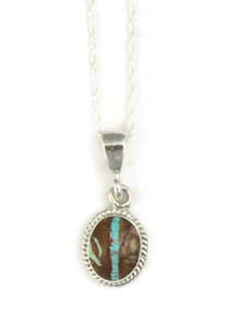 Small Royston Boulder Turquoise Pendant by Berna Francisco
