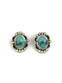 Kingman Turquoise Clip On Earrings by Jan Mariano