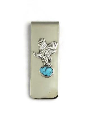 Kingman Turquoise Eagle Money Clip