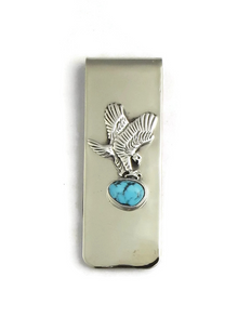 Kingman Turquoise Eagle Money Clip