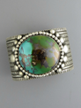 Two-Tone Royston Turquoise Cuff Bracelet by Guy Hoskie