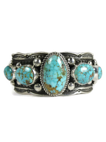 Turquoise Mountain Gem Bracelet by Guy Hoskie