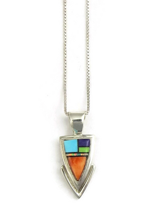 inlay created new silver wilson image sterling pendant opal by navajo dawes jet