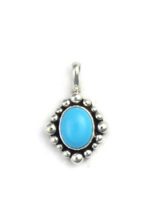 Sleeping Beauty Turquoise Pendant by Raymond Coriz